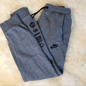 Nike Air Gray Joggers Sweatpants Boys LG